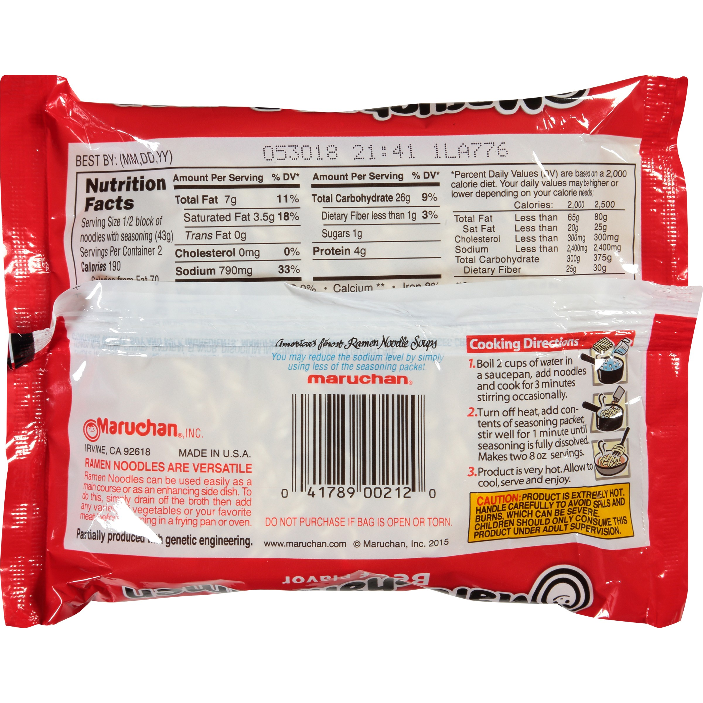 calories in maruchan ramen