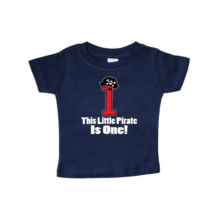 1st Birthday Outfit Pirate Hat Number 1 Baby T-Shirt - Baby Pirate Shirt