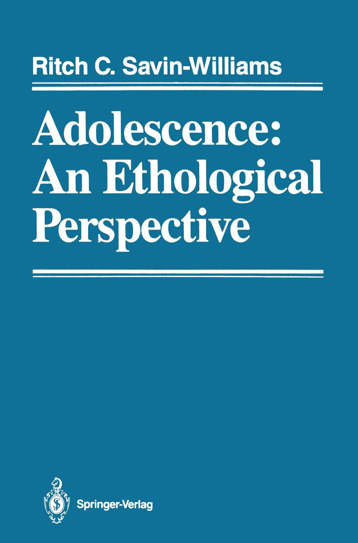 Adolescence: An Ethological Perspective - eBook - Walmart