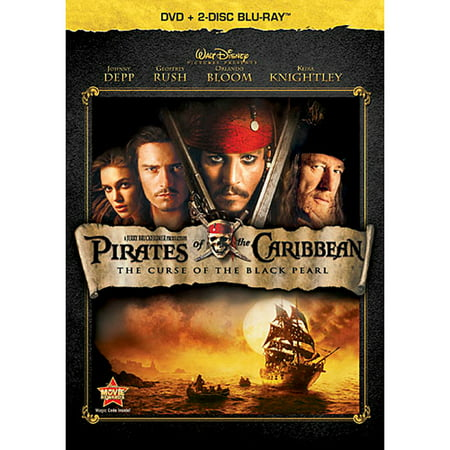 Pirates of the Caribbean: The Curse of the Black Pearl (DVD + 2-Disc Blu-ray) (Pirates Of The Caribbean Fountain Of Youth)