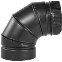 ELBOW STOVEPIPE 90DEG 8IN BLK