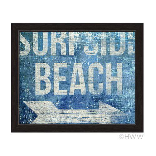 Click Wall Artwork SurfSide Beach Framed Textual Art by Click Wall Art