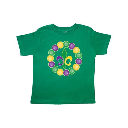 Mardi Gras Beads And Fleur De Lis Toddler T-Shirt