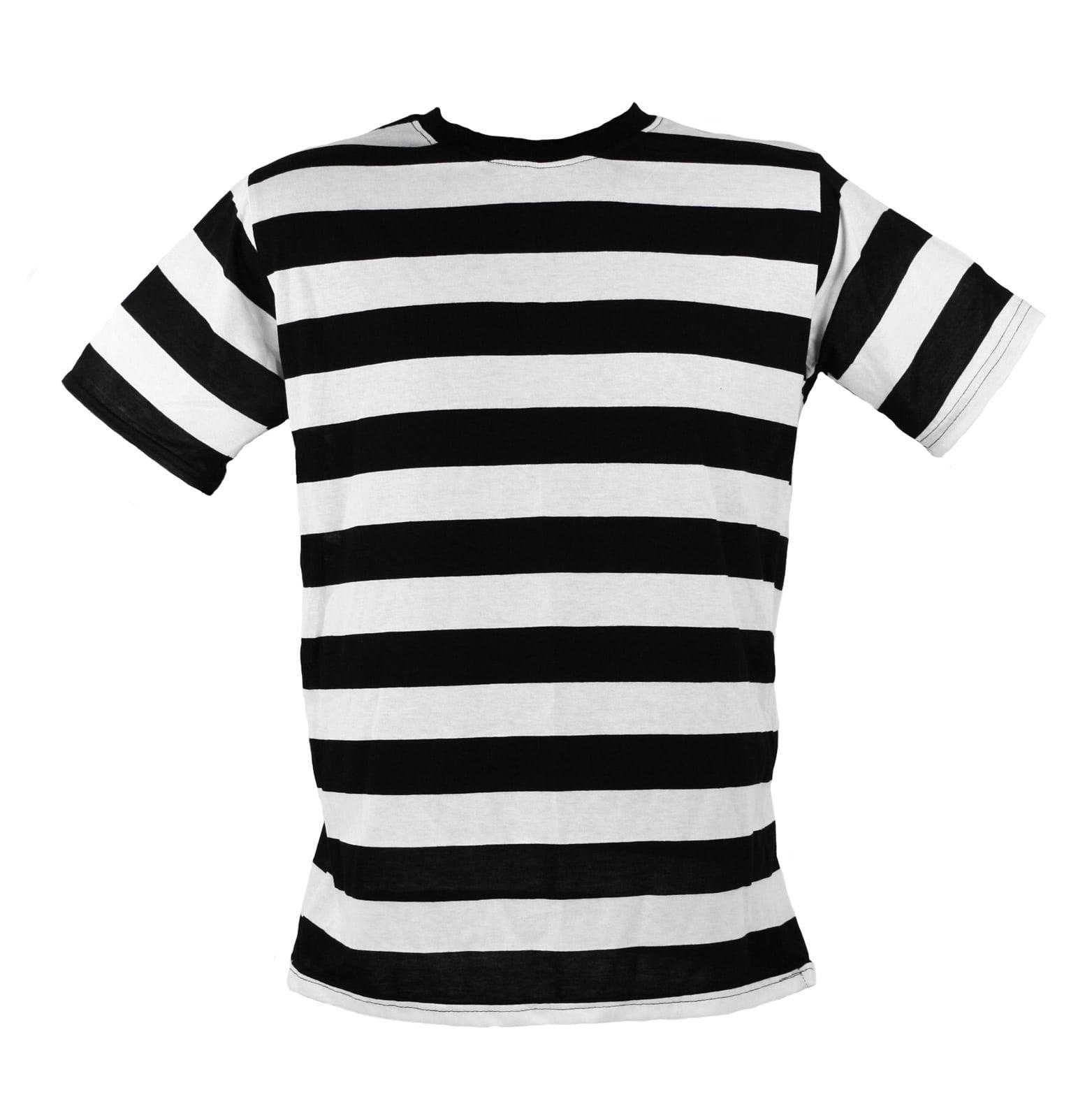 black and white striped shirt short sleeve