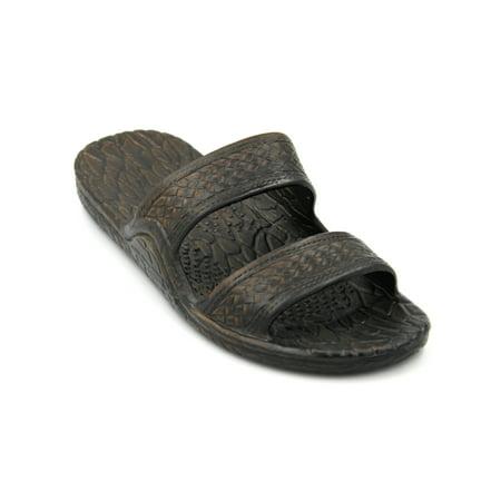 5419b2f1d41aa Pali Hawaii Jandals - Genuine Original Jesus Jandal Sandal (Dark Brown Size  7) - Walmart.com