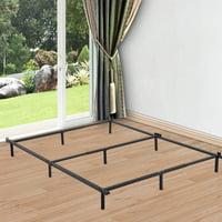 Bed Frame Metal Platform Bed Base Mattress Foundation Adjustable Heavy Duty Fits Twin/Full/Queen Steel for Box Spring & Mattress Set
