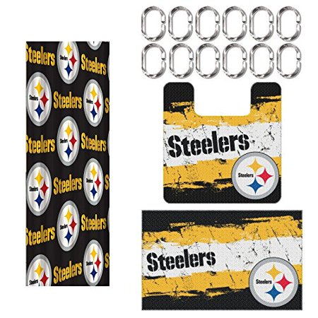 Pittsburgh Steelers 15 Piece Bath Set - Walmart.com on denver broncos bathroom set, new england patriots bathroom set, steelers shower set, black and yellow bathroom set, dallas cowboys bathroom set, atlanta falcons bathroom set, pittsburgh steelers bathroom decor, sf 49ers bathroom set, houston texans bathroom set, philadelphia eagles bathroom set, football bathroom set, indiana pacers bathroom set, chicago bears bathroom set, pittsburgh steelers bathroom stuff, pittsburgh pirates comforter sets, nfl bathroom set, san francisco 49ers bathroom set, florida gators bathroom set, minnesota vikings bathroom set, seattle seahawks bathroom set,