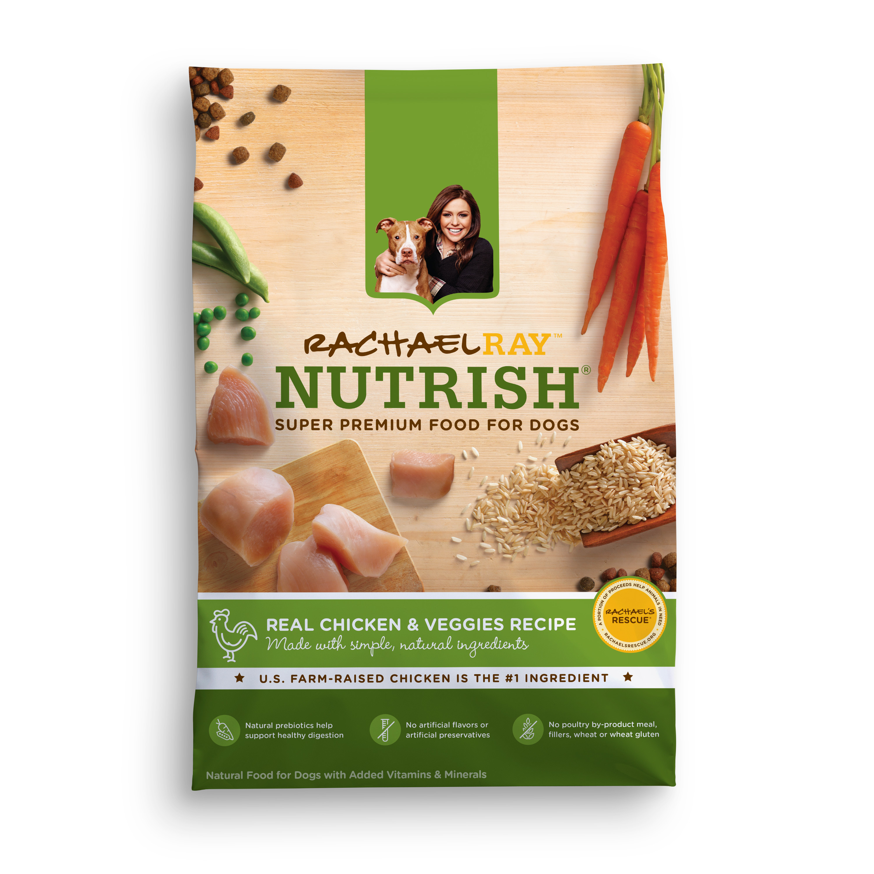 Rachael Ray Nutrish Natural Dry Dog Food, Real Beef and Brown Rice ...