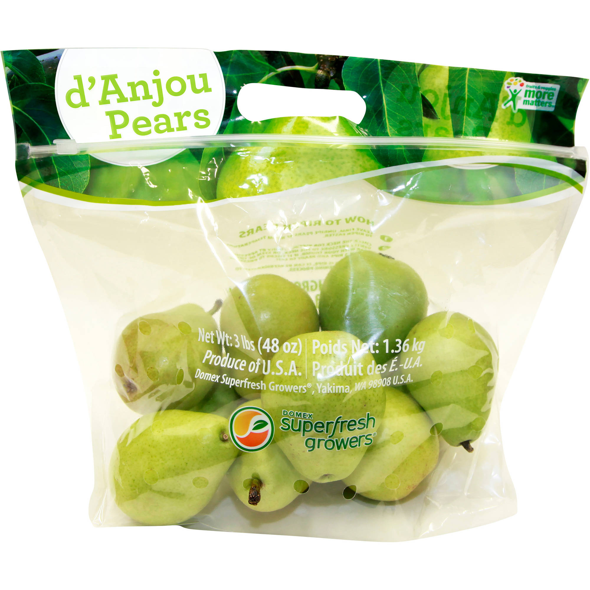 Domex Superfresh Growers Organic d'Anjou Pears, 48 oz