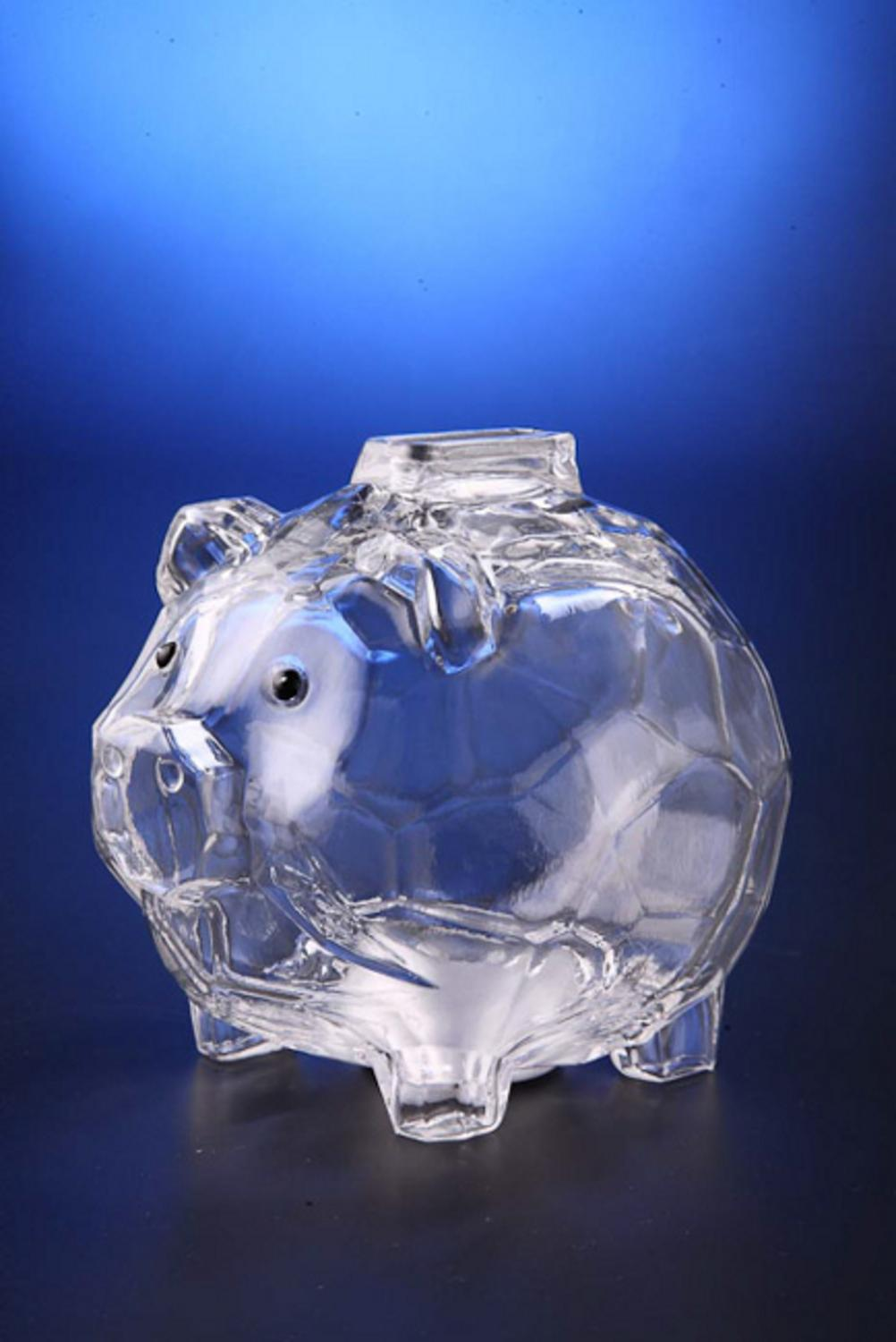 "Pack of 6 Icy Crystal Decorative Functional Piggy Bank with Removable Plug 4.5"" by CC Christmas Decor"