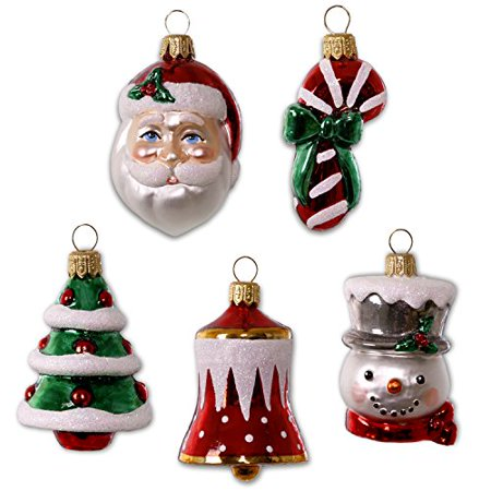 hallmark keepsake 2017 symbols of the season premium mini blown glass christmas ornaments set of - Walmart Christmas Decorations 2017
