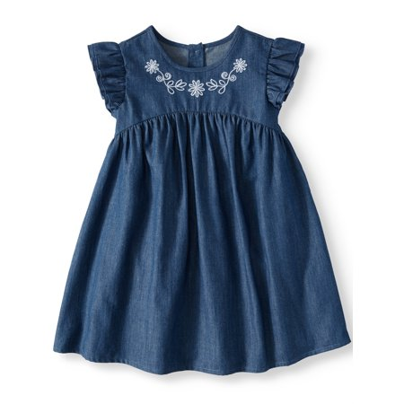 Girl Dress Sale (Ruffle Sleeve Babydoll Dress (Toddler)