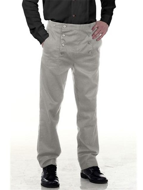 The Pirate Dressing C1403 Architect Mens Hundred Percent Cotton Pants, Grey - Extra Large