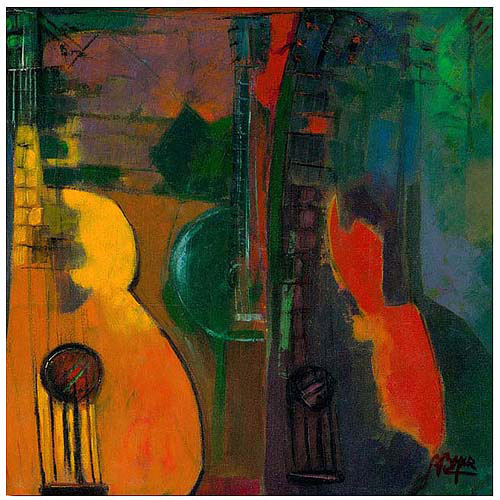 "Trademark Fine Art ""Guitars"" Canvas Art"