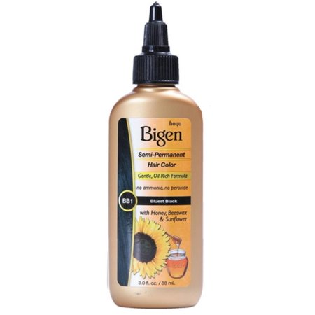 Bigen Semi Permanent Hair Color Bluest Black  3 Oz  Pack Of 6
