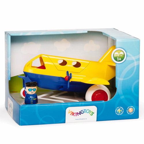 Viking Toys Super Chubbies Jumbo Jet, Yellow and Blue