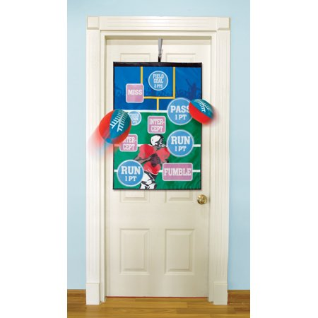 Over the Door Football Target Challenge Game With 3 Plush Footballs for $<!---->