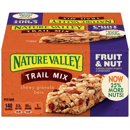- Nature Valley™ Trail Mix Fruit & Nut Chewy Granola Bars
