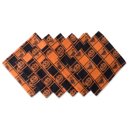 DII Halloween Woven Check Napkin (Set of 6), 20x20