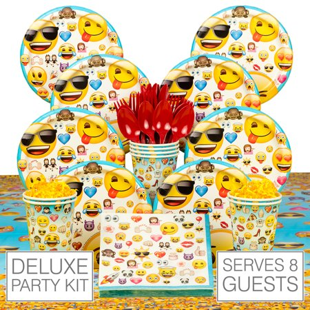 Emoji Birthday Party 8 Guest Pack