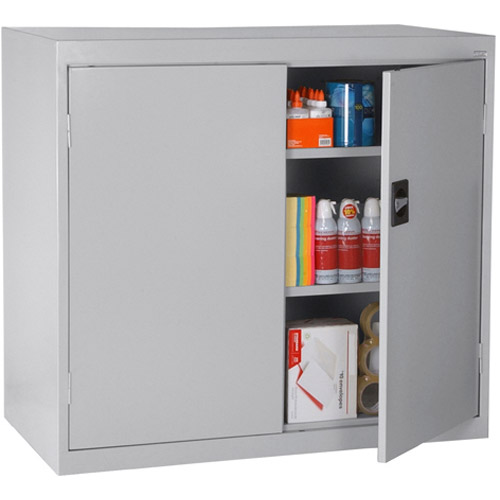 """Elite Series Counter Height Storage Cabinet with Adjustable Shelves, 46""""W x 24""""D x 42""""H, Dove Gray"""