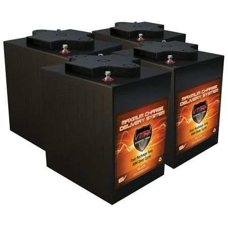 qty 4 vmax 6v agm 36v battery pkg 225ah 6 volts ea high capacity golf cart solar commercial golf. Black Bedroom Furniture Sets. Home Design Ideas