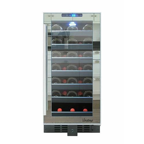 Vinotemp 33-Bottle Mirrored Touch Screen Wine Cooler