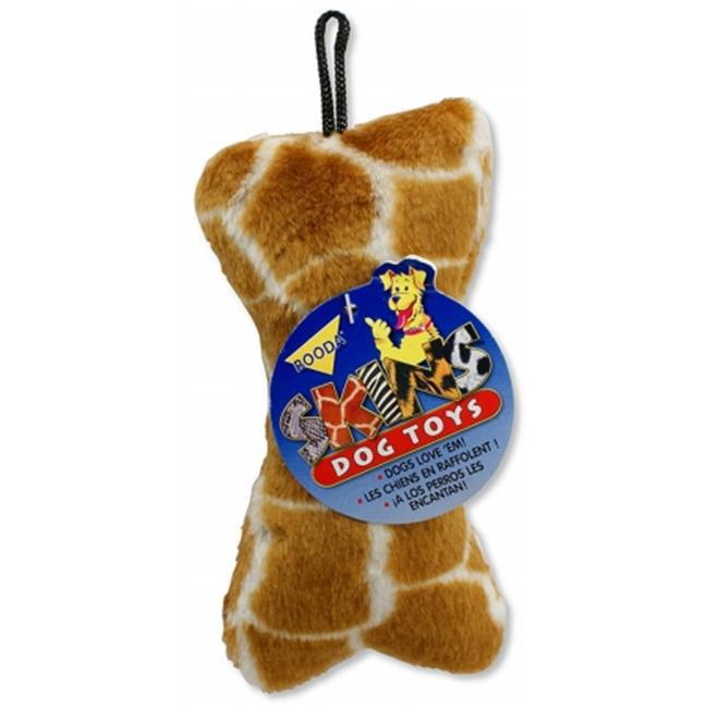 Doskocil - Aspen Pet Medium Plush Giraffe Skin Bone Dog Toy  53925