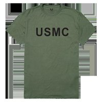 RapidDominance RS2-USM-OLV-05 USMC Relaxed Graphic Tee, Olive - 2X