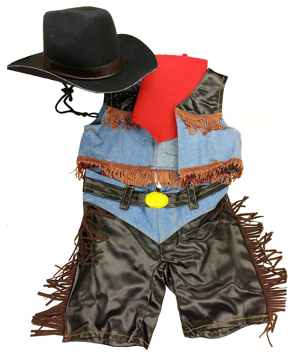 """Cowboy Outfit Teddy Bear Clothes Outfit Fits Most 14"""" 18"""" Build-a-bear, Vermont... by Animaland"""