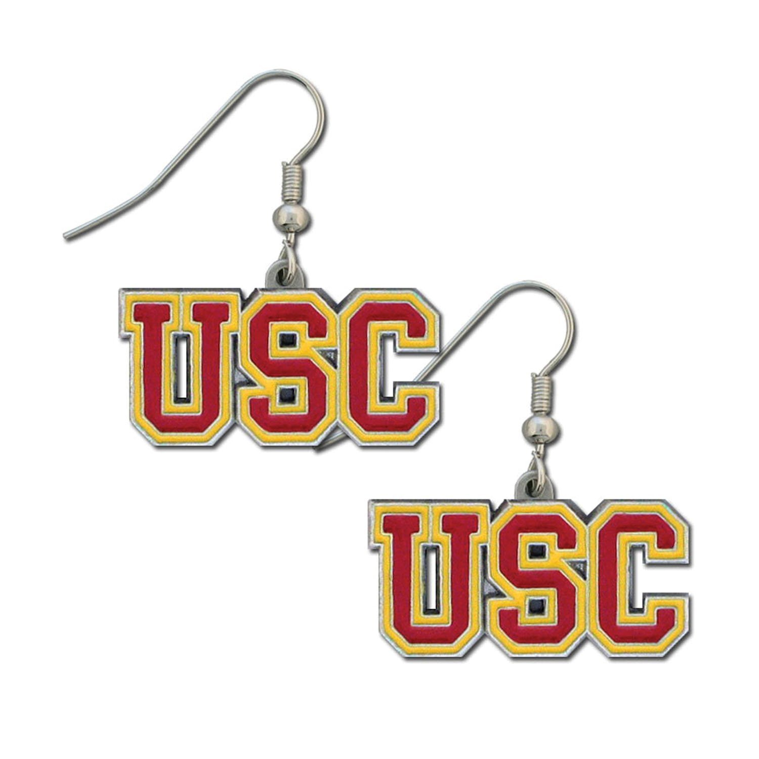 USC Trojans Dangle Earrings, Officially licensed College product By Siskiyou