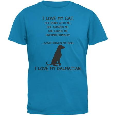I Love My Dalmatian Girl Sapphire Blue Adult T-Shirt](101 Dalmatians Shirt)