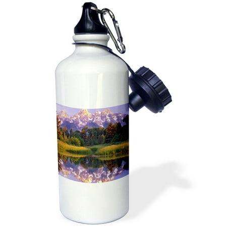 3dRose Tetons, Schwacher Landing, Grand Teton NP, Wyoming - US51 TFI0078 - Tim Fitzharris, Sports Water Bottle, 21oz