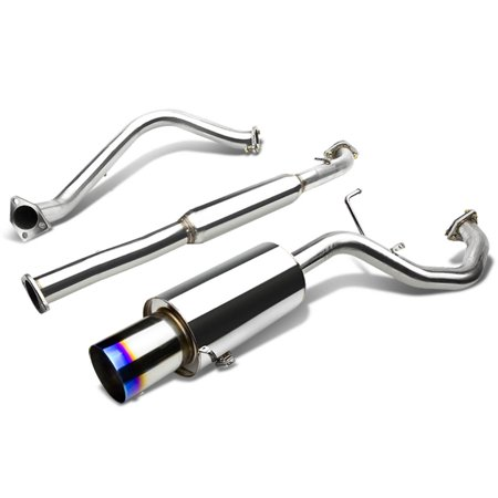 "4"" BURNT TIP MUFFLER CATBACK / CAT BACK EXHAUST For 1999 to 2003 MITSUBISHI GALANT 2.4L 4CYL l4 4G64"
