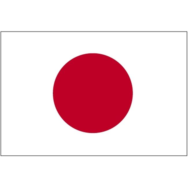 Annin Flagmakers 190193 4 ft. X 6 ft. Colonial Nyl-Glo Japan Flag with Fringe by Annin Flagmakers