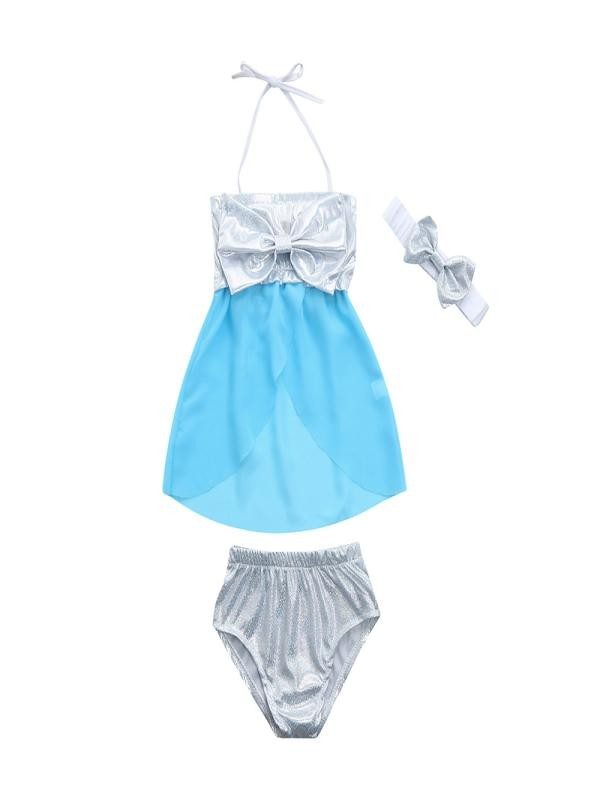 Outtop Infant Kids Baby Girls Swimwear Bowknot Straps Swimsuit Bathing Bikini Set