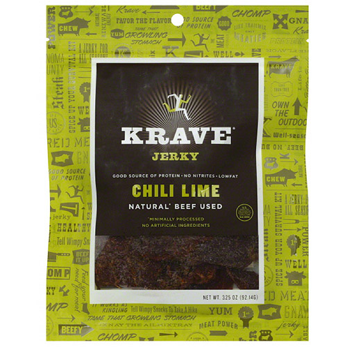 Krave Chili Lime Jerky, 3.25 oz, (Pack of 8)