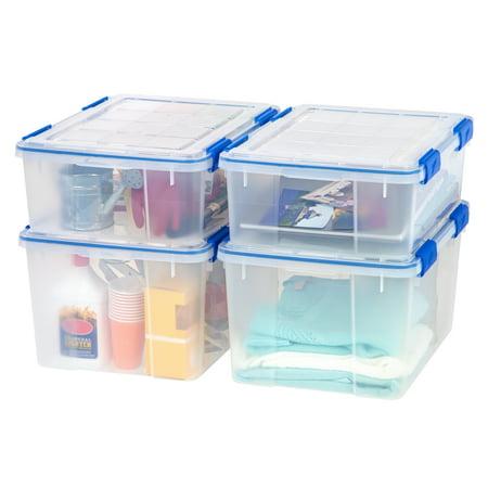 Set de 4 contenedores plásticos Ziploc