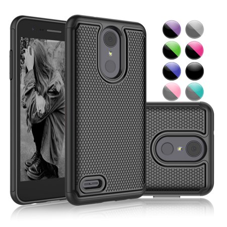 LG Tribute Dynasty Case, LG Aristo 2 Case, LG K8 2018 Case, X210 Case, Njjex [Black] Rugged Rubber Shock Absorbing Plastic Slim Hard Grip Hard Cases For LG LV3 (Black Manhattan Cocktail Case)