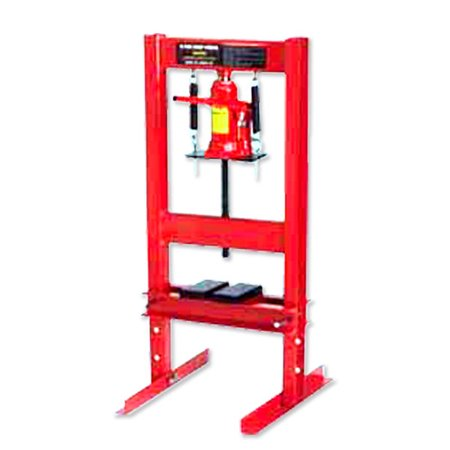 Hiltex 12 Ton Hydraulic Shop Press | H - Frame Plate Floor Stand Jack