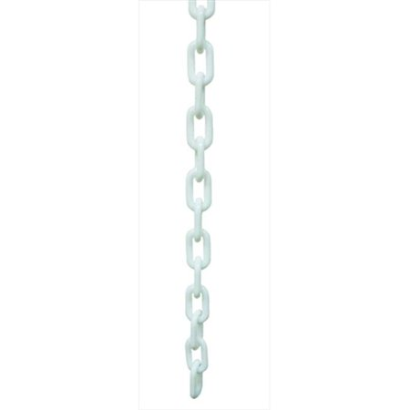 VIP Crowd Control 1882 50 1 5 in dia Plastic Chain 50 ft Length White