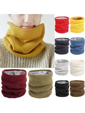 SUNSIOM Men Women Winter Thickened Fleece Lined Warm Scarf Bib Pullover Neck Warmer