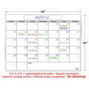 Usi Calendar.Usi Dry Erase Calendar 36 X48 Wipes 100 Clean Never Leaves Marker Stains