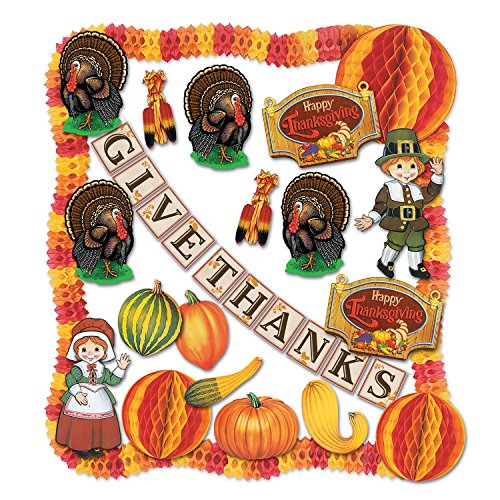 Beistle 1-Pack 24-Piece Decorative Thanksgiving Decorating Kit - image 1 of 1