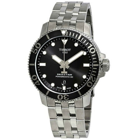 Tissot Men's Seastar 1000 Automatic Analog Black 43mm Watch T1204071105100 (Bridge Watch Automatic)