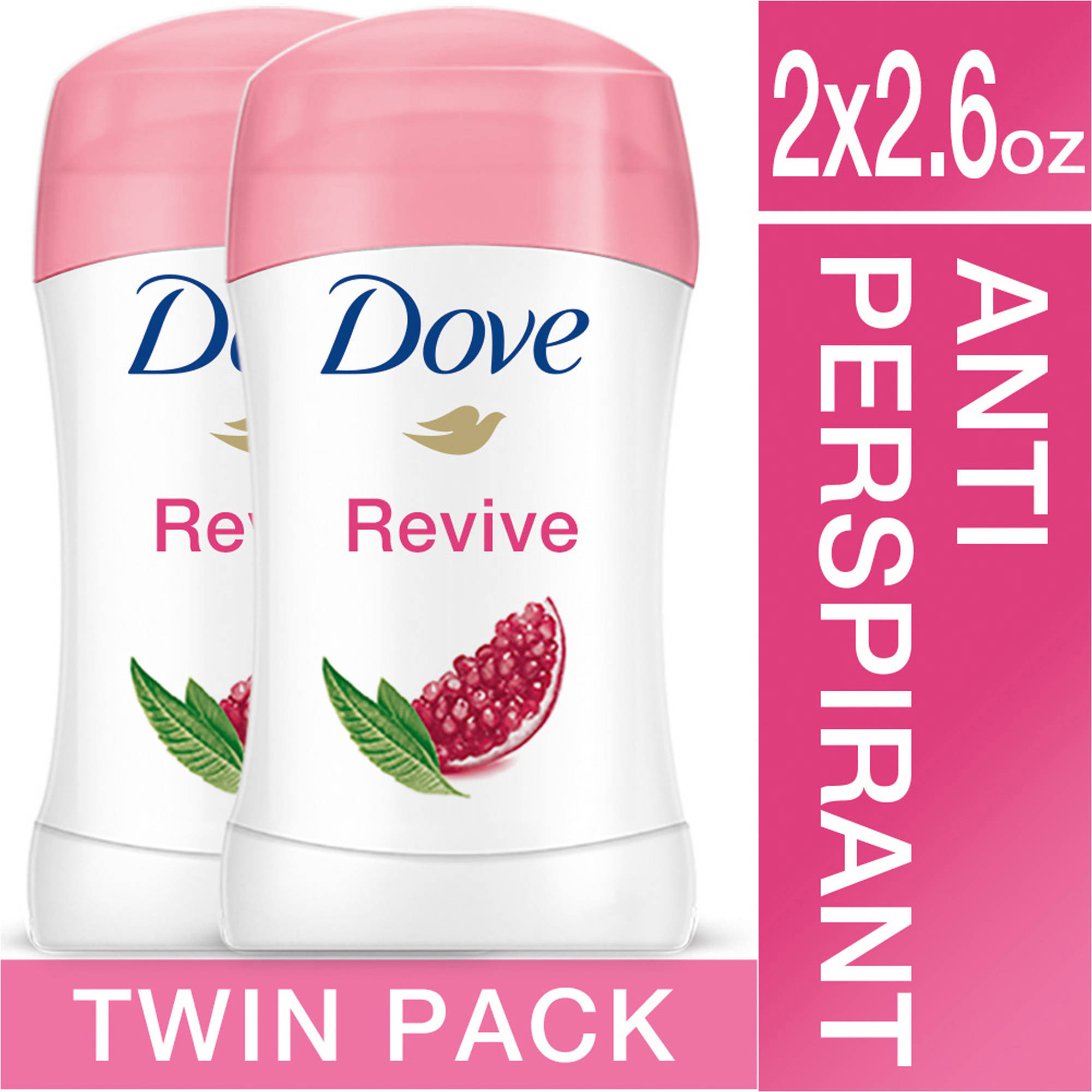 Dove go fresh Revive Antiperspirant Deodorant, 2.6 oz, Twin Pack