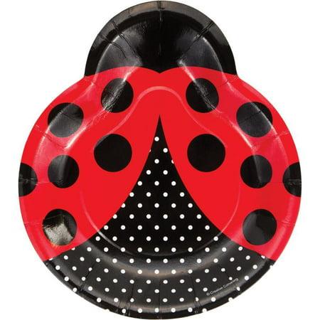 Creative Converting Ladybug Fancy Shaped Plate 9