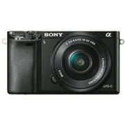 Sony Alpha a6000 Mirrorless Interchangeable-lens Camera w/ 16-50mm lens - Black