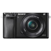 Sony Alpha a6000 Mirrorless Interchangeable-lens Camera w/ 16-50mm lens - Black