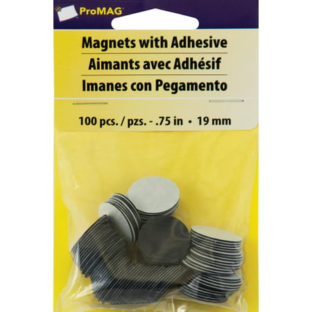 - ProMag Round Magnets W/Adhesive-.75